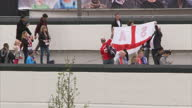 England prepare for the World Cup in Brazil next month with a victory over Peru at Wembley Stadium Shows exterior shots of England fans entering...