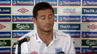 England press conference ahead of international friendly against Holland Frank Lampard press conference SOT I had a little bang of my knee yesterday...