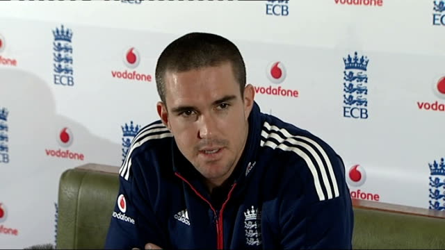Kevin Pietersen Pietersen press conference SOT Doesn't believe IPL will threaten Test cricket in England / Playing for England is all that counts /...