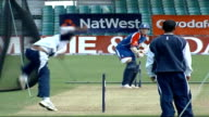 England team training Vars unidentified batsman in nets