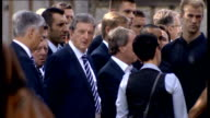 England team visit Auschwitz concentration camp England team including players Wayne Rooney Andy Carroll Joe Hart Leighton Baines Theo Walcott Phil...