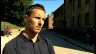 England team visit Auschwitz concentration camp Joe Hart interview SOT Phil Jagielka interview SOT David Bernstein interview SOT