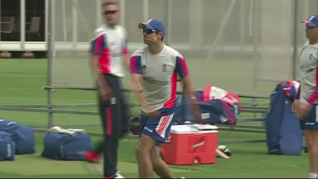 England train ahead of second Ashes test match England team practising fielding and throwing including Joe Root Ben Stokes James Anderson Moeen Ali...