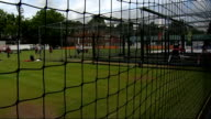 England training ahead of first test against India More shots of cricketers practising in nets / flag flying / pitch