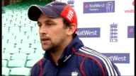 England training and interview Harmison interview setups Harmison talking to reporter Harmison interview SOT Not surprised by way bowled with four...