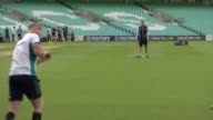 London The Oval EXT General views of England training session including Alastair Cook