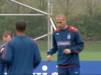 England training session Phil Nevile training with Jermaine Defoe Alan Smith and Shaun WrightPhillips / General views England footballers kicking...
