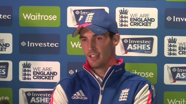 3rd Ashes test post match press conference ENGLAND Birmingham Edgbaston INT Alastair Cook and Steven Finn postmatch press conference SOT