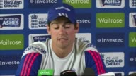 4th Ashes test preview ENGLAND Nottingham Trent Bridge EXT Various of England Cricket Team practising on Trent Bridge pitch Alastair Cook at training...