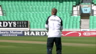 5th test match England prepare ENGLAND London The Oval EXT Various of England cricket captain Alastair Cook and England players signing autographs as...