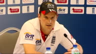 Fourth test Fifth day England victory INT Andrew Strauss press conference SOT greatest pitfall is feeling you have done it all