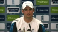 James Anderson charged with misconduct during first Test INT Alastair Cook press conference SOT