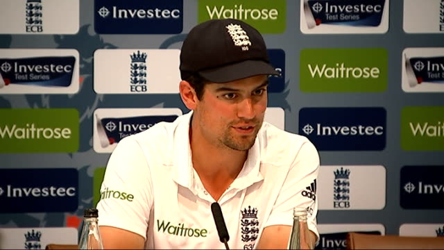Press conferences after second Test Alastair Cook press conference SOT