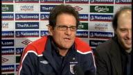 Fabio Capello press conference Fabio Capello press conference continues SOT David Beckahm fitness/ form of Aaron Lennon