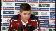 Steven Gerrard press conference ENGLAND Colney INT Steven Gerrad press conference SOT discusses Liverpool current form and forthcoming England...