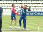 Preview England training ENGLAND London Lords EXT England cricketers Michael Vaughan and Monty Panesar along / Jon Lewis along / Alistair Cook and...