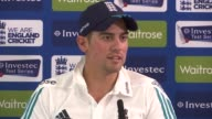 third test England press conference ENGLAND London Lords INT Alastair Cook press conference SOT