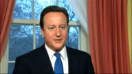 David Cameron interview ENGLAND London INT David Cameron MP interview SOT well I think it is an absolutely magnificent achievement to win in...