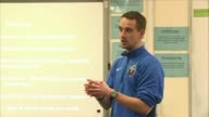 England women's coach Mark Sampson sacked by FA FILE DATE UNKNOWN INT Mark Sampson addressing football players at meeting SOT Footballers listening...