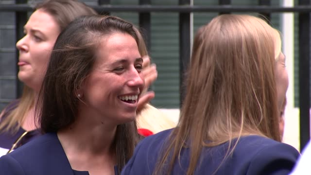 England women's cricket team and England women's rugby team arrive at No 10 ENGLAND London Whitehall Downing Street EXT England Women's Cricket Team...