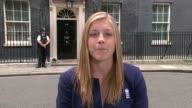 England women's cricket team attend Downing Street reception ENGLAND London Downing Street EXT Heather Knight LIVE interview SOT CUTAWAYS reporter