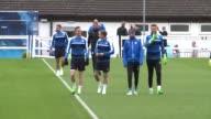England's fairytale champions Leicester City train ahead of their crunch tie against Atletico Madrid in the King Power Stadium on Tuesday where they...