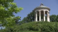 Englischer Garten - Monopterus,  trees,  blue sky, people, close up