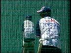 Concerns over Mugabe regime ITV LATE NEWS TIM EWART England cricket team practicing Alec Stewart sorting equipment