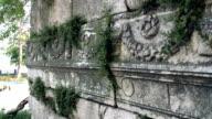 Engraved ancient ruins