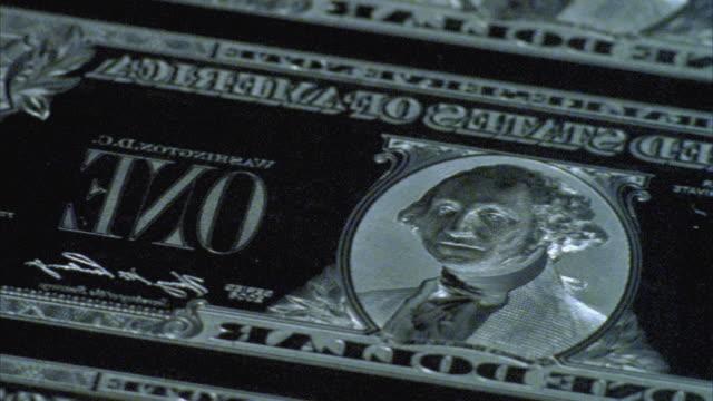 CU, PAN, Engraved chrome plate of American one dollar bills, Washington DC, USA