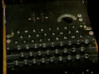 Imperial War Museum GV Uboat display PAN Coding instructions TILT DOWN to Enigma machine Penny RitchieCalder interview SOT Would be almost impossible...