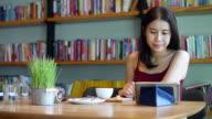 Enjoy on Digital Tablet at cafe