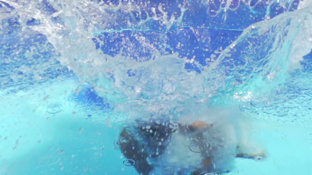 Enjoy Swimming Pool : HD Slow motion