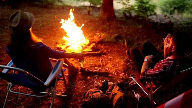 Enjoy the evening and nature in front of the campfire