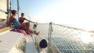 Enjoying a sailing vacation