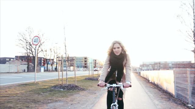 Enjoying bicycle ride