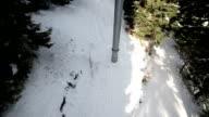 Enjoying on ski lift,passenger's POV