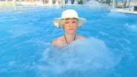 HD SLOW MOTION: Enjoying The Whirlpool Bath