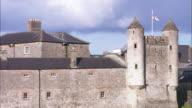 Enniskillen Castle flying Ulster banner, Northern Ireland
