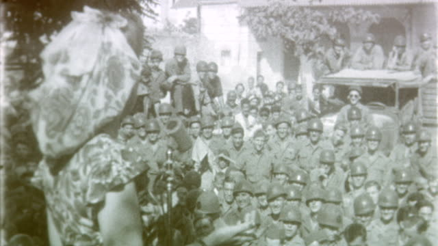 USO Entertainment WWII at Army Base on May 03 1945 in Venice Italy