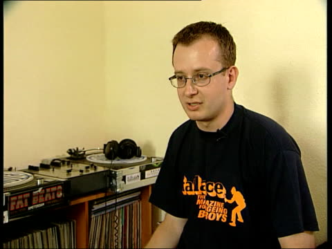 Radio 1 DJ Tim Westwood Shot ITN London DJ Greenpeace interview SOT UK and US rap and hip hop scenes are worlds apart