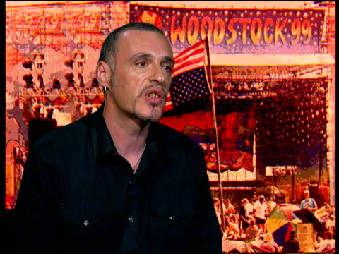 Woodstock Rioting ITN ENGLAND London Charles Shaar Murray interview SOT they rejected the outside media coming in taking over the event / the counter...