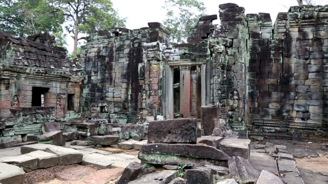Entrance Door of a Temple in Angkor Wat, Cambodia