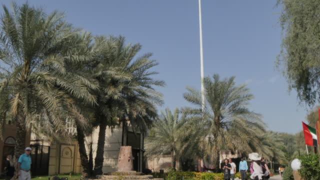 Entrance inside Emirates Heritage Village, Abu Dhabi, United Arab Emirates, Middle East, Asia