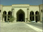 Entrance to AlFaw Palace headquarters for MultiNational ForceIraq / Baghdad Iraq / AUDIO