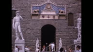 1964 entrance to Palazzo Vecchio  - Florence, Italy - Home Movie