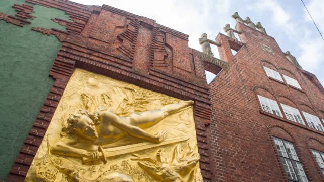 Entry of Böttcherstrasse (Böttcherstraße) Bremen