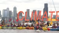Environmental activists in Seattle paddled out to sea Saturday to protest a Shell oil rig moored off the coast of the US city that is headed for...