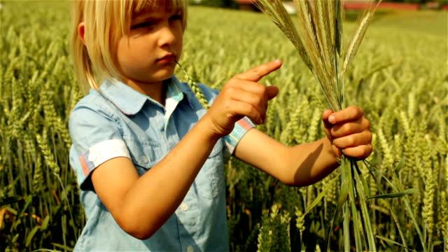 Environmental Portrait of Rural Boy in a Wheat Field
