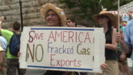 Environmentalists protest fracking in front of the Federal Energy Regulatory Commission